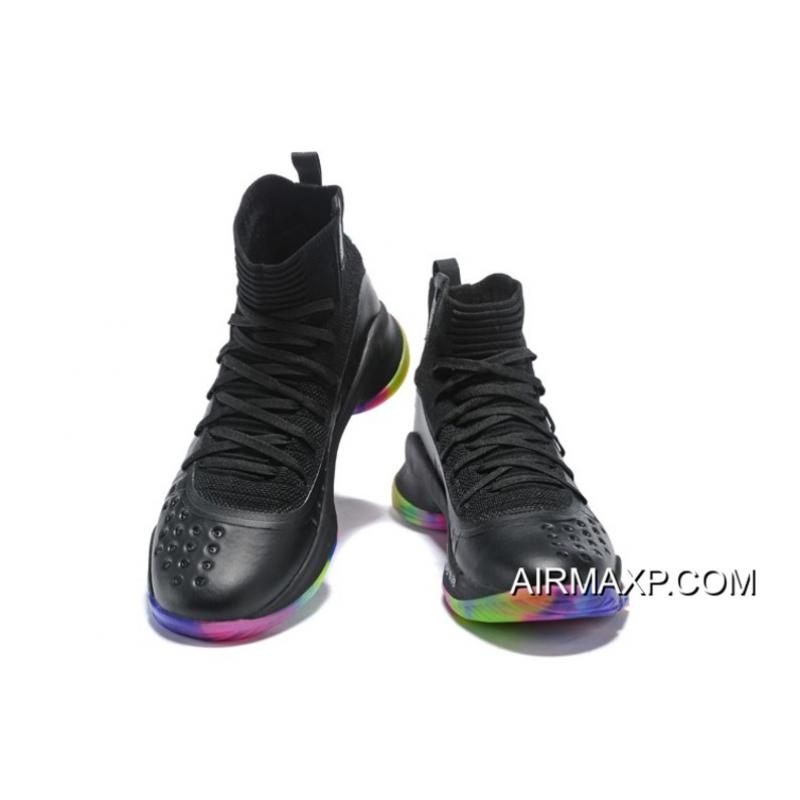 """383c0cb1206b ... Free Shipping UA Curry 4 Curry 4 """"Fruity Pebbles"""" Black Multi-Color ..."""