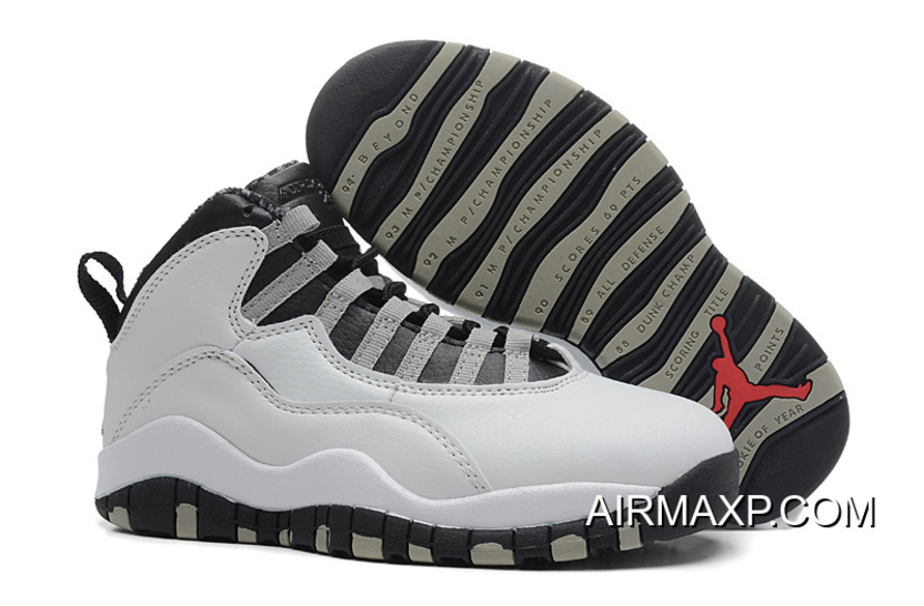 uk availability d56fc be772 Air Jordan 10 'Steel' White And Black-Light Steel Grey Red Latest