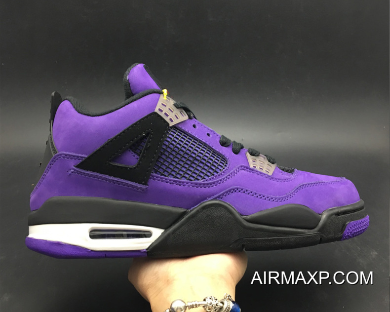 separation shoes 352a9 b2e1d Travis Scott X Air Jordan 4 Purple Free Shipping