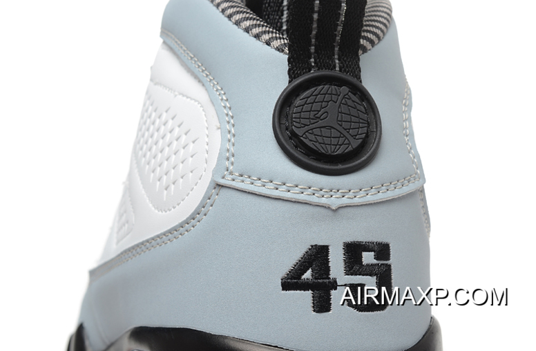 on sale dc085 10ee0 Online Air Jordan 9 Retro 'Barons' White And Black-Natural Grey