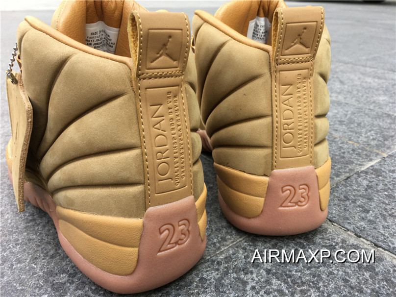 newest 06c3f d1e33 Men Air Jordan 12 PSNY X Air Jordan 12 Wheat Authentic