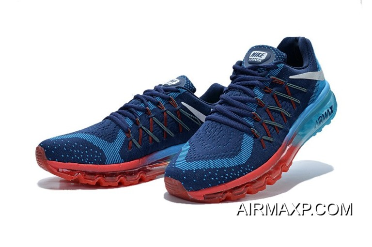 hot sale online 3be48 a8583 Air Max 2015 Flyknit Blue Red Grey Black Latest