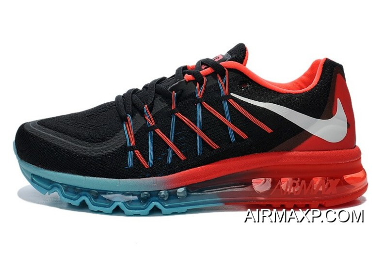 Nike Air Max 2015 Black Blue Fire Red Free Shipping, Price