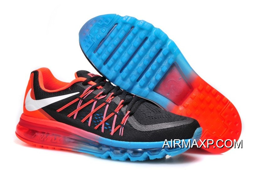 check out b013a 260e8 Nike Air Max 2015 Men Black White Red Running Shoes Latest