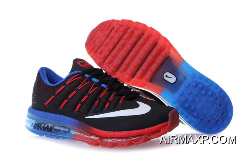 3b3340765d Nike Air Max 2016 Red Black Blue Latest, Price: $76.69 - Discount ...