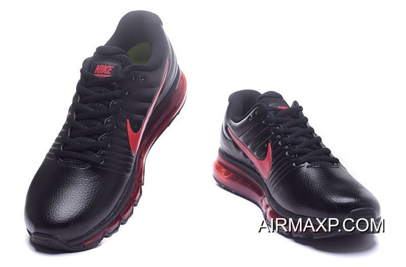 new styles 0d20b 753fb Nike Air Max 2017 Leather Red Black New Style, Price: $73.52 ...