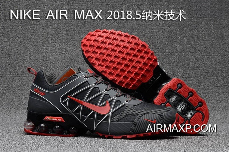 best website 8ded0 aa99f Nike Air Max 2018 Gray Black White Red Running Shoes New Year Deals ...