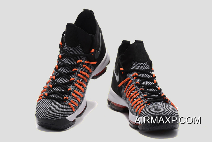 e65512284f1e Nike KD 9 Elite Black White-Dark Grey-Hyper Orange Super Deals ...