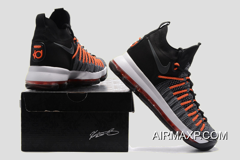 half off e6a58 ca577 Nike KD 9 Elite Black White-Dark Grey-Hyper Orange Super Deals