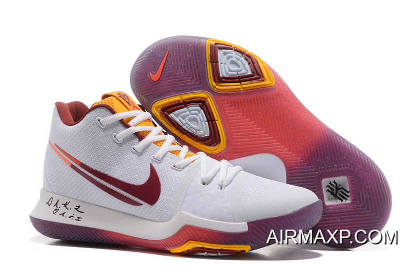 8db54443bf39 Nike Kyrie 3 White Purple And Yellow Top Deals