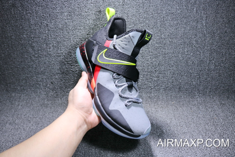 the best attitude 0f11d 747a3 Discount Nike LeBron 14 'Out Of Nowhere' Wolf Grey/ Black – Volt/Bright  Crimson