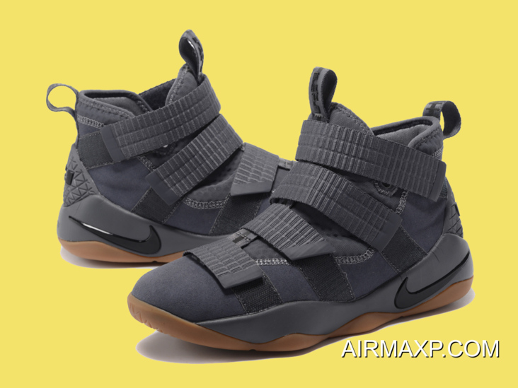 new style new specials best shoes Big Discount Nike LeBron Soldier 11 Grey And Gum-Black, Price ...