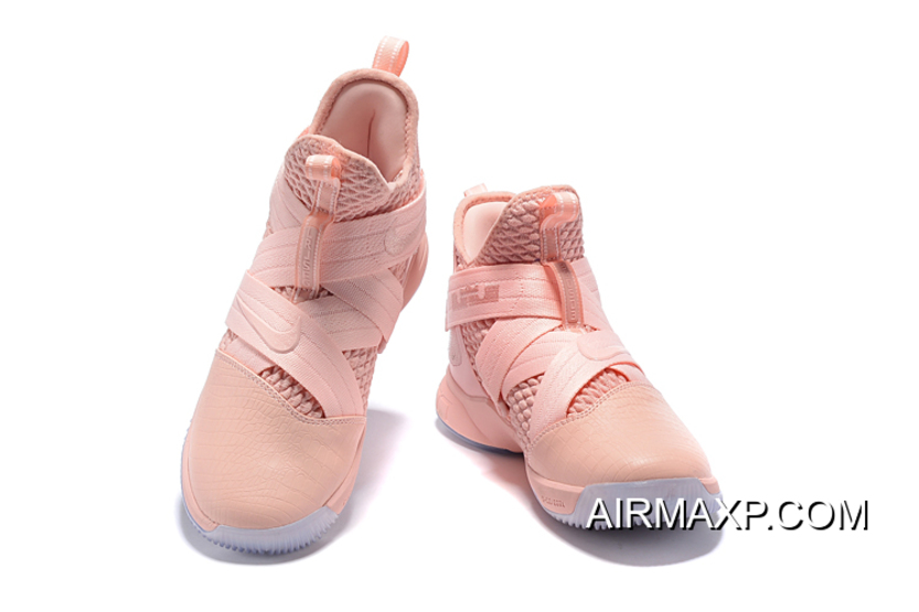 separation shoes 9c620 e6b34 Nike LeBron Soldier 12 Soft Pink New Release