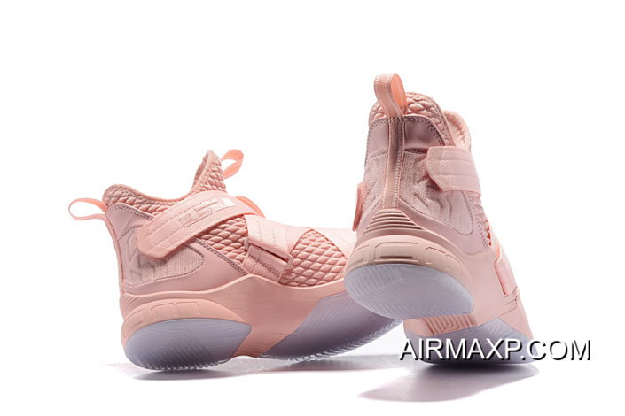 separation shoes a35f9 68a03 Nike LeBron Soldier 12 Soft Pink New Release