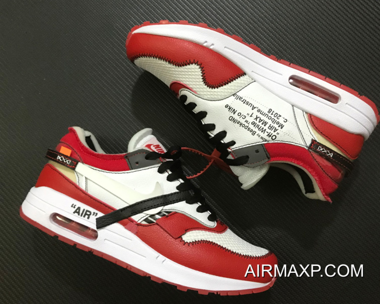 For Sale Virgil Abloh X BespokeIND X Off White X Nike Air Max 1s Red