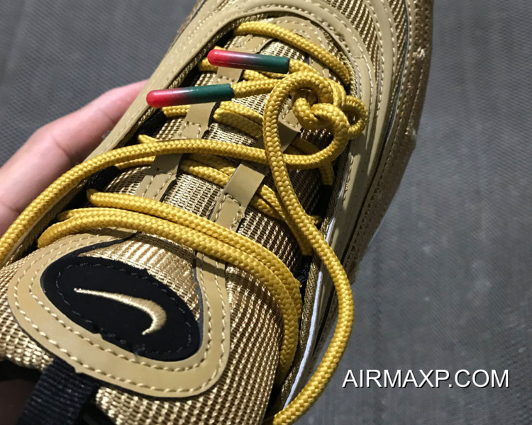 WomenMen Cristiano Ronaldo With Nike Air Max 97 CR7 Gold For Sale