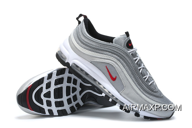 sports shoes 69c5e 7cffe Latest Nike Air Max 97 OG QS 'Silver Bullet' Metallic Silver/Varsity  Red-White-Black