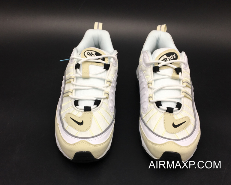"size 40 3acaa 0bd22 Latest Nike Air Max 98 ""Fossil"" White/Black-Fossil-Reflect Silver"