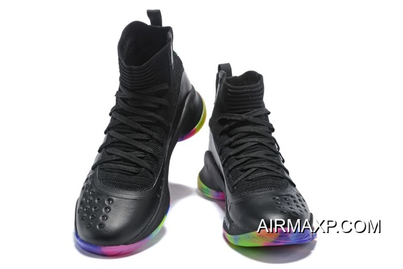 """check out 58d59 3b32c Free Shipping UA Curry 4 Curry 4 """"Fruity Pebbles"""" Black Multi-Color"""